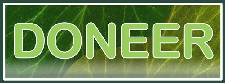 Button met Groen blad als achtergrond. Deze button linkt naar de pagina Sponsoring pagina